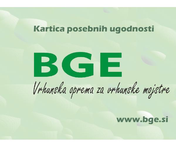 BGE Vrhunska oprema za vrhunske mojstre